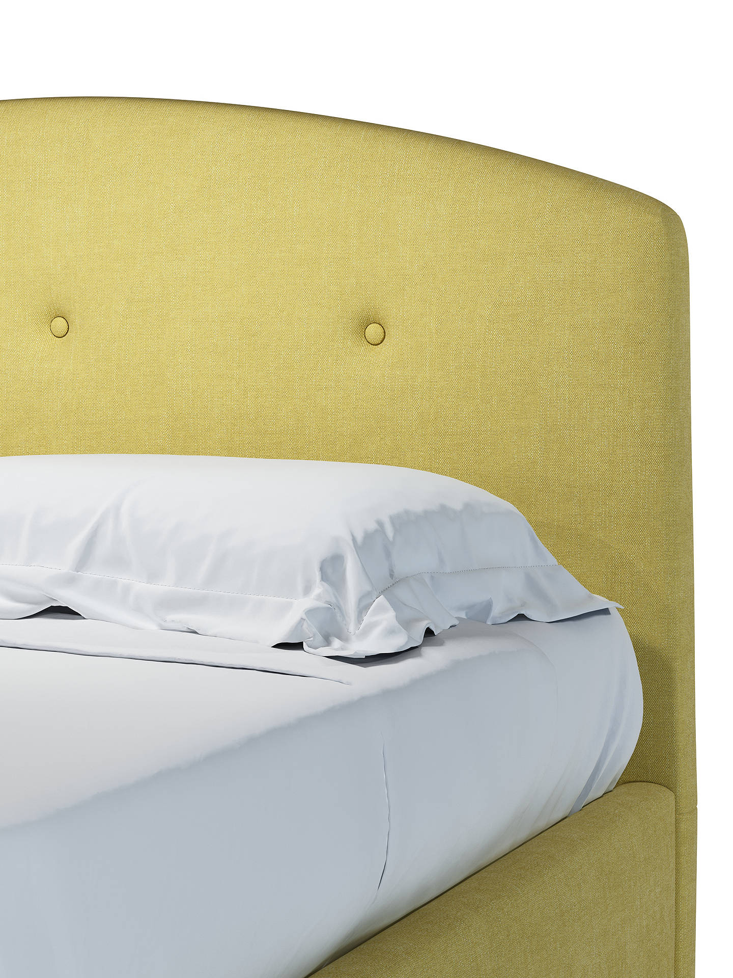 Buy John Lewis & Partners Grace Ottoman Storage Upholstered Bed Frame, Double, Erin Citrine Online at johnlewis.com