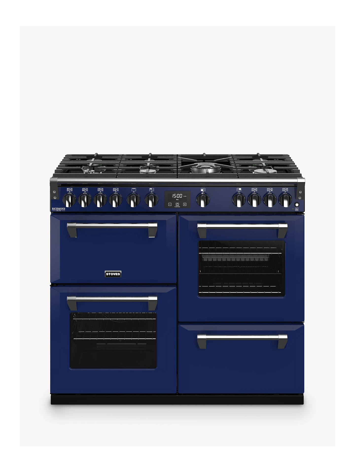 Buy Stoves Richmond Deluxe S1000G 100cm Gas Range Cooker, A+/A Energy Rating, Midnight Gaze Online at johnlewis.com