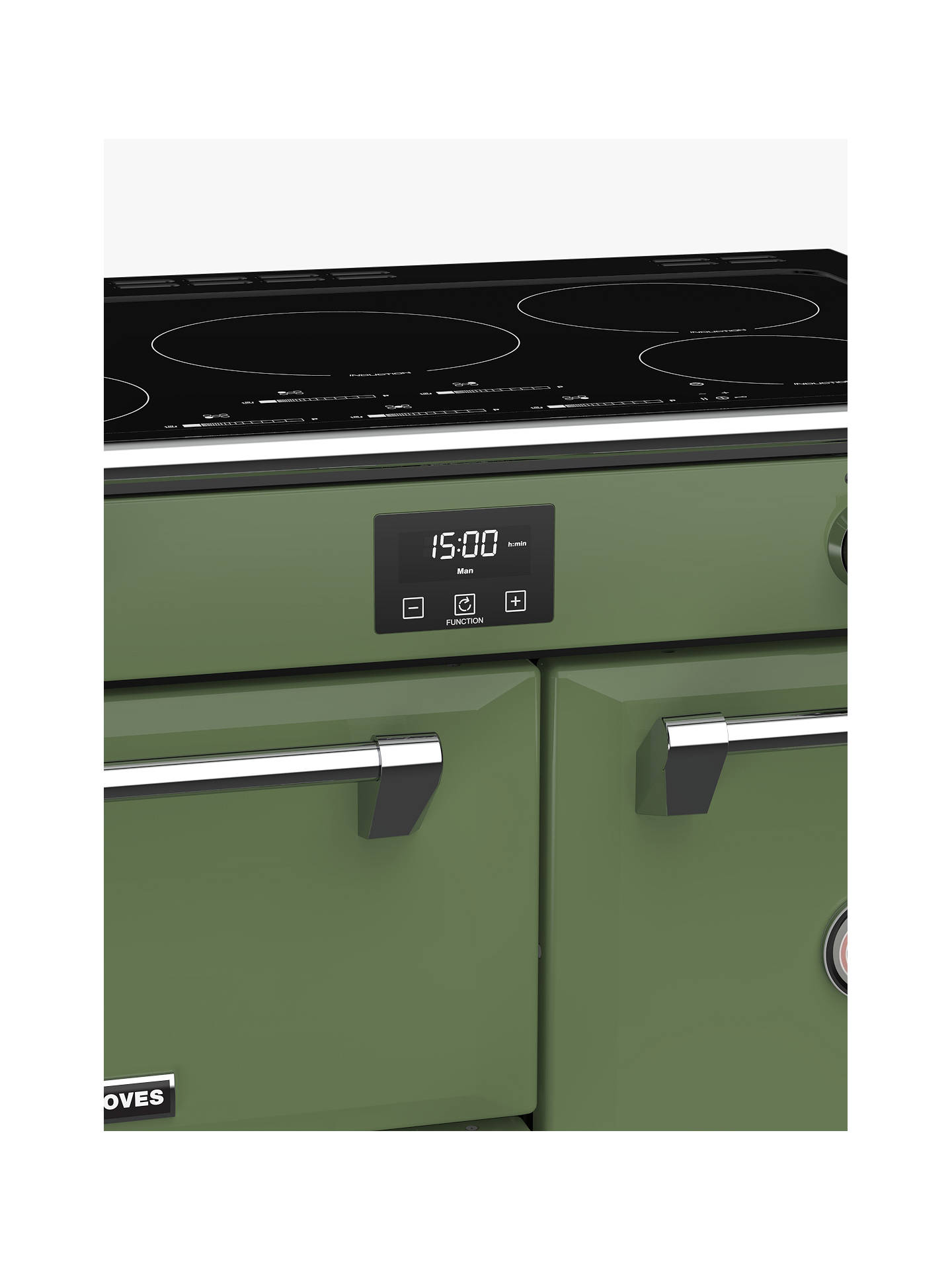 Buy Stoves Richmond Deluxe S900Ei Induction Range Cooker, Soho Green Online at johnlewis.com