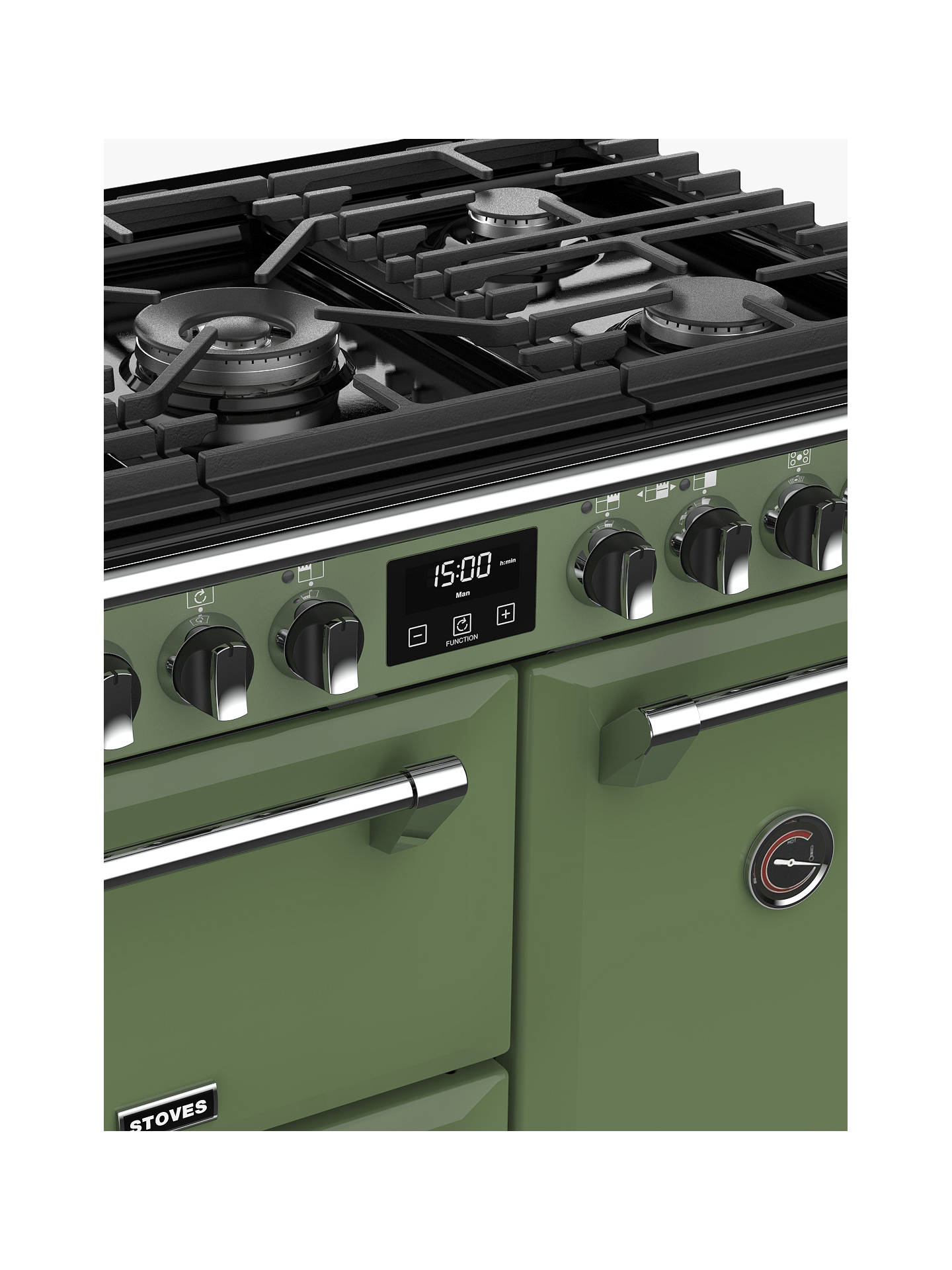 Buy Stoves Richmond Deluxe S900DF Dual Fuel Range Cooker with Zeus Bluetooth Connected Timer, Soho Green Online at johnlewis.com