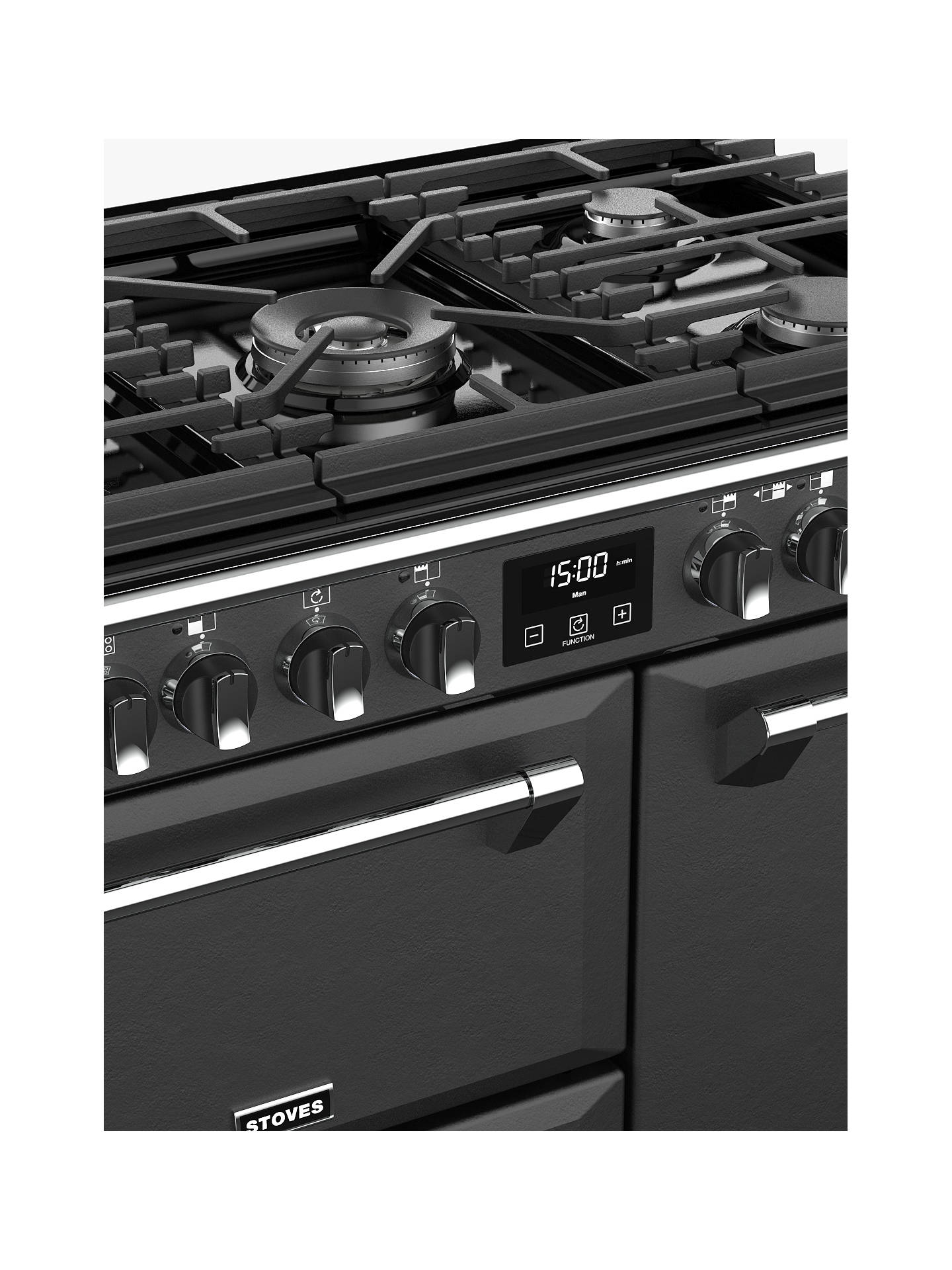 Buy Stoves Richmond Deluxe S900DF Dual Fuel Range Cooker with Zeus Bluetooth Connected Timer, Anthracite Online at johnlewis.com