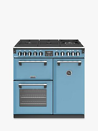 Stoves Richmond Deluxe S900DF Gas-Through-Glass 90cm Dual Fuel Range Cooker, A Energy Rating,