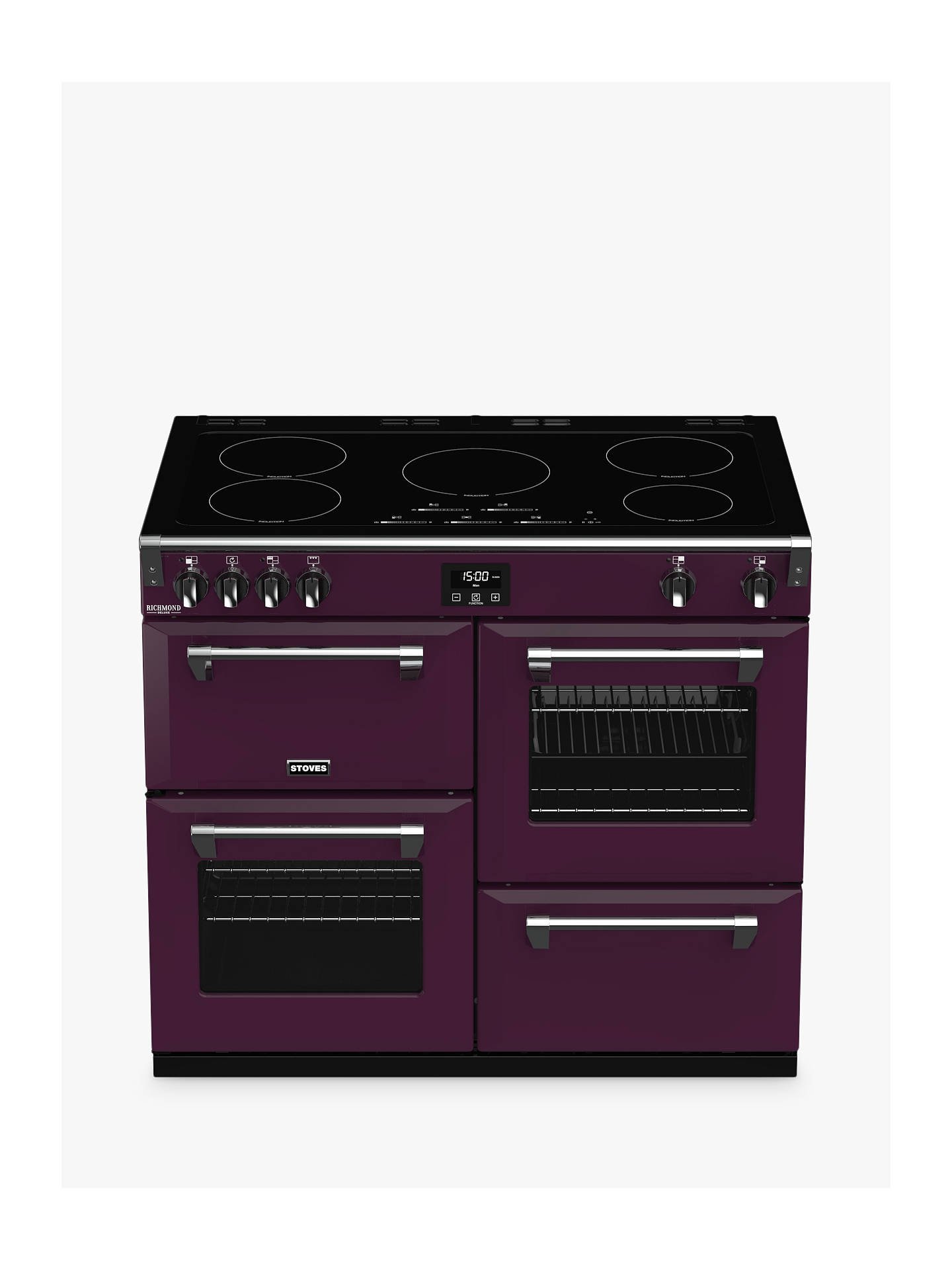 Buy Stoves Richmond Deluxe S1000Ei 100cm Electric Range Cooker, A Energy Rating, Wild Berry Online at johnlewis.com