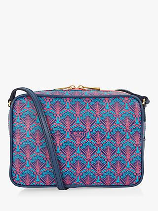 Liberty London Maddox Iphis Print Leather Camera Bag