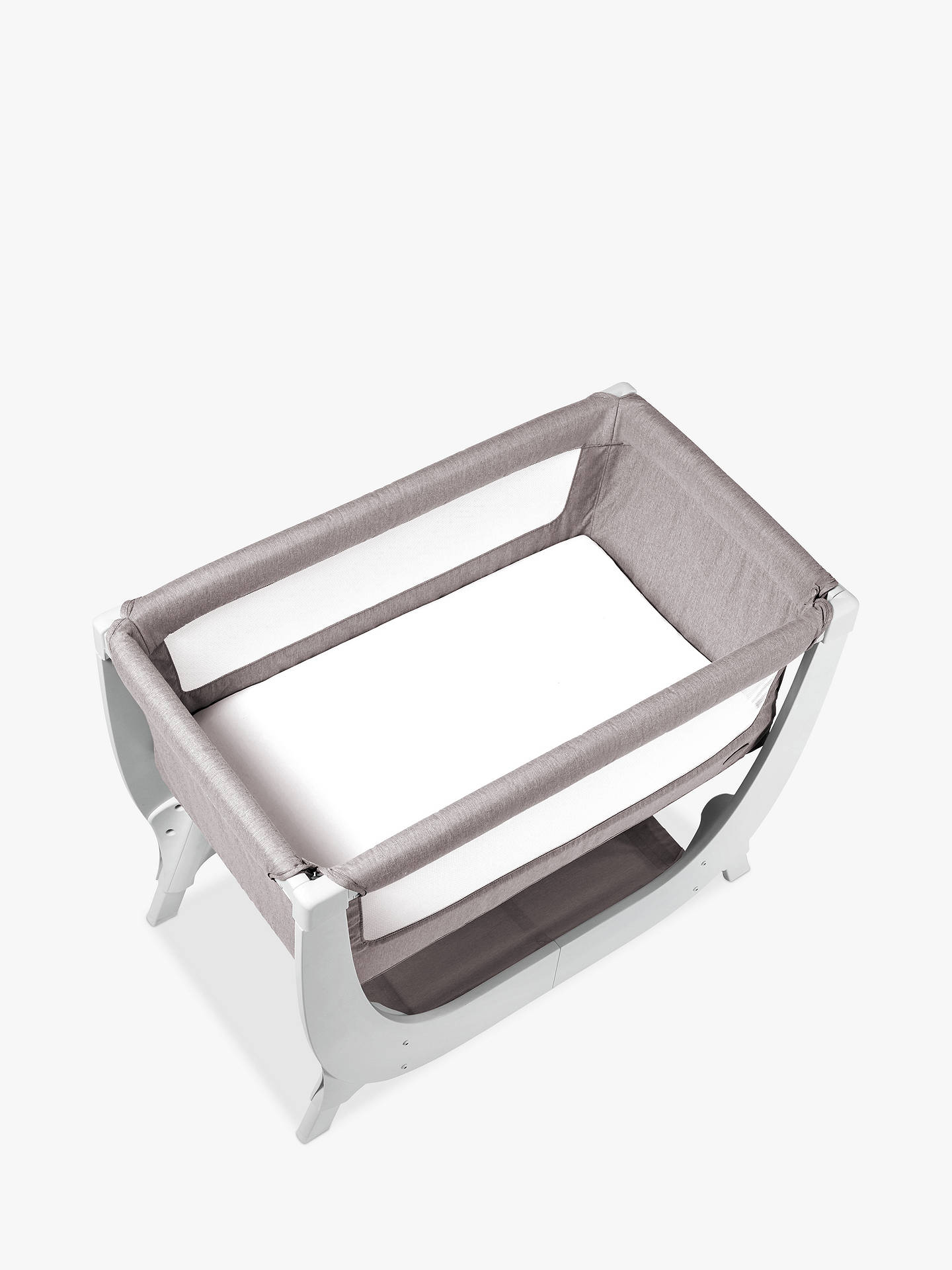 Buy Shnuggle Air Bedside Crib, Stone Grey Online at johnlewis.com