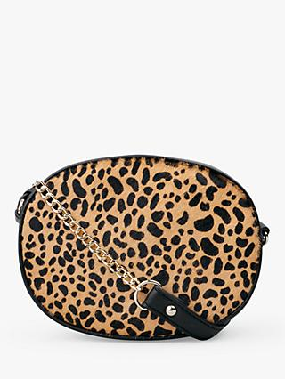 hush Romy Chain Strap Cross Body Bag, Leopard