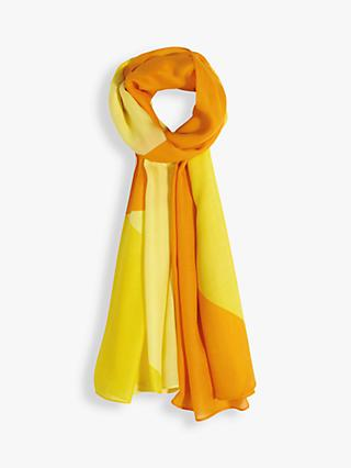 hush Patsy Colour Block Scarf, Yellow