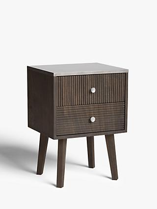 John Lewis & Partners Padma 2 Drawer Bedside Table