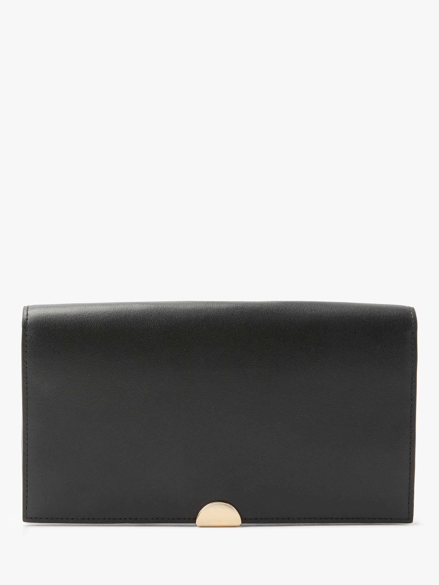 71a1f1ae1d Buy Coach Dreamer Leather Clutch Purse, Black Online at johnlewis.com ...