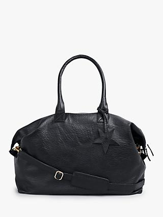 hush Gabby Weekend Leather Bag, Black