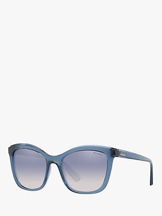 Ralph RA5252 Women's Square Sunglasses, Transparent Blue
