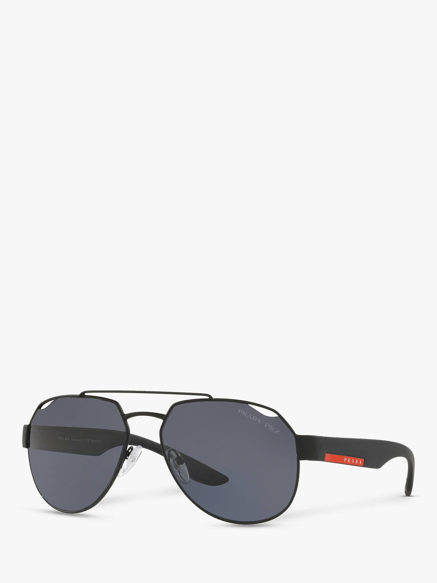 1a1403525b93 Buy Prada PS 57US Men s Polarised Rectangular Sunglasses