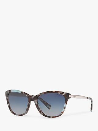 Ralph RA5201 Women's Cat's Eye Sunglasses, Blue Tortoise