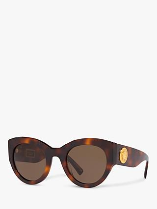 Versace VE4353 Women's Cat's Eye Sunglasses, Havana/Brown