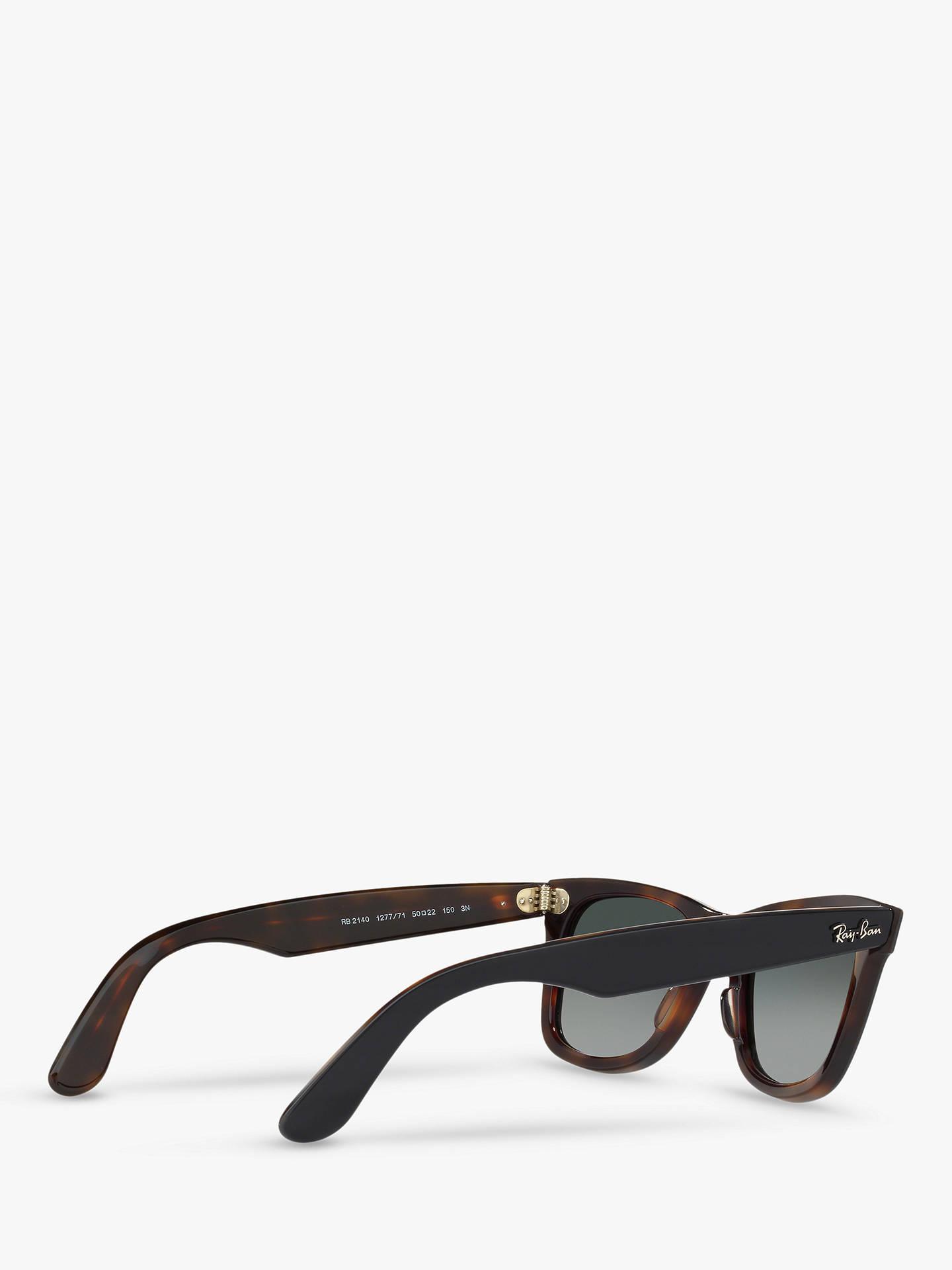 176dfef39 ... Buy Ray-Ban RB2140 Women's Original Wayfarer Sunglasses, Grey/Grey  Gradient Online at ...