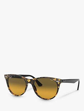 Ray-Ban RB2185 Women's Wayfarer Sunglasses, Yellow Havana
