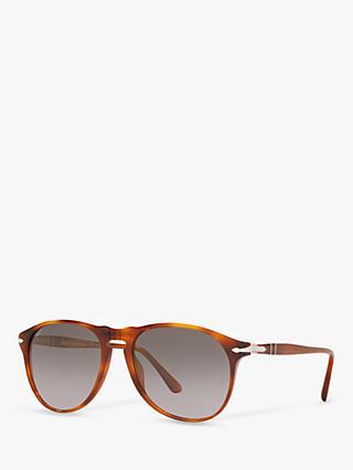 970cd9923ec2 Persol PO6649S Men's Pilot Polarised Sunglasses, Terra Di Siena