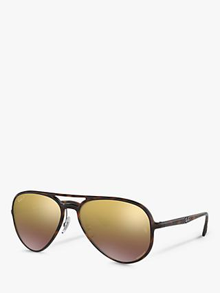 Ray-Ban RB4320CH Women's Polarised Aviator Sunglasses