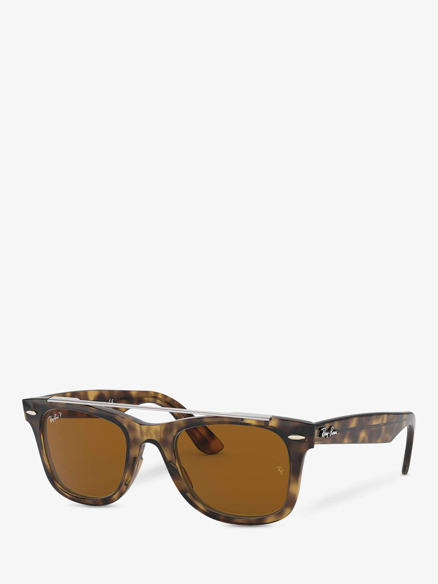 0d6faf83f0 Ray-Ban RB4540 Women s Polarised Wayfarer Double Bridge Sunglasses ...