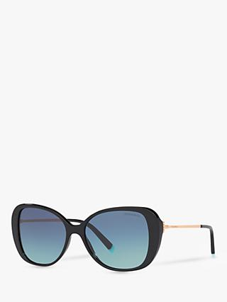 Tiffany & Co TF4156 Women's Cat's Eye Sunglasses, Black/Blue Gradient