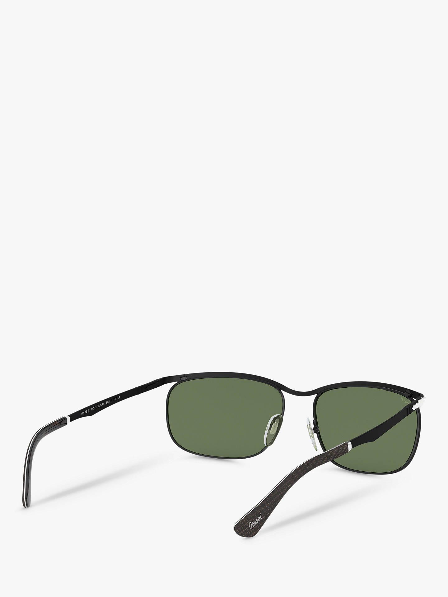 16d3ae0a096d ... Buy Persol PO2458S Men's Polarised Rectangular Sunglasses, Black/Green  Online at johnlewis. ...