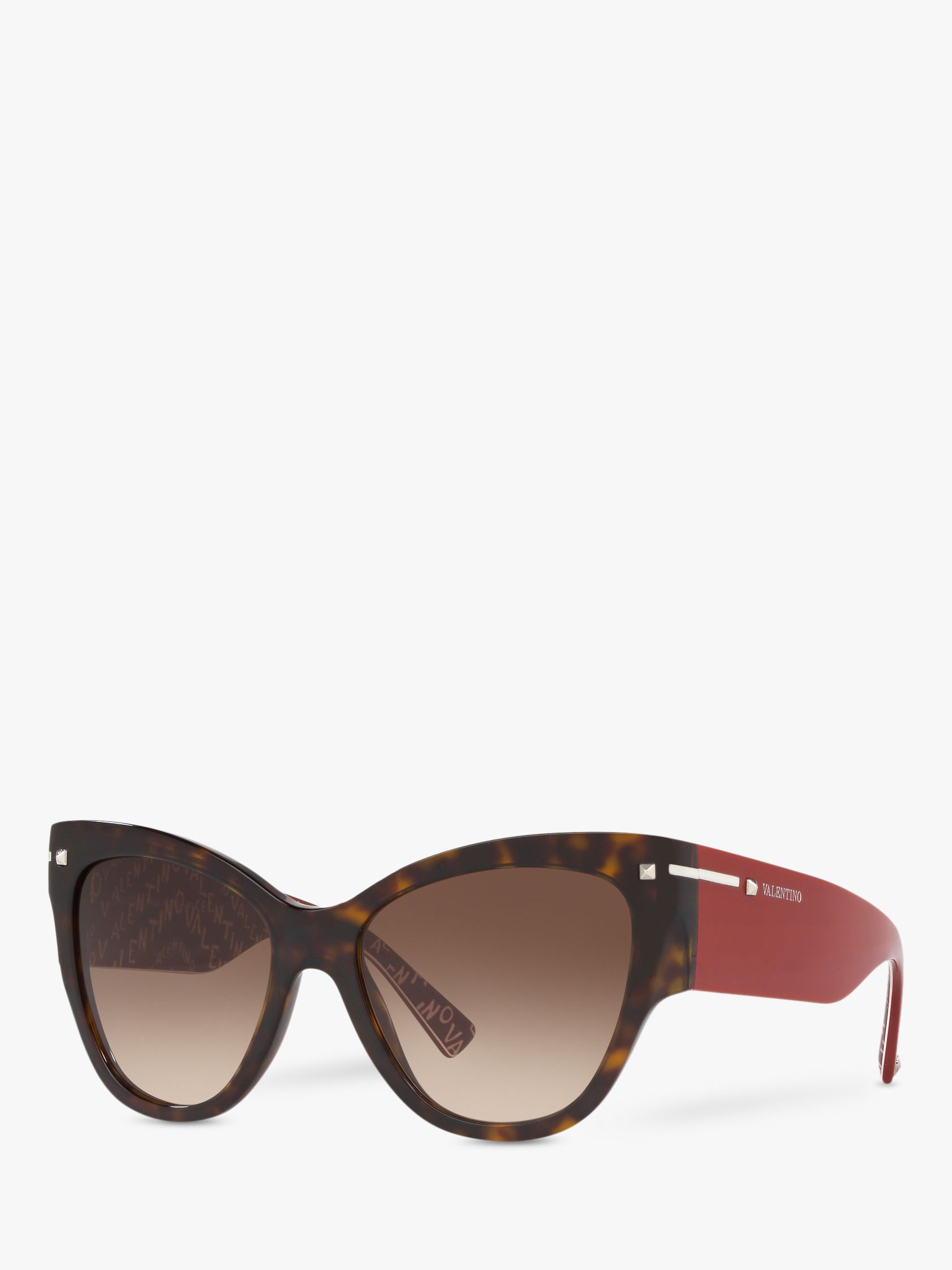 Valentino Valentino VA4028 Women's Chunky Cat's Eye Sunglasses, Havana/Brown Gradient