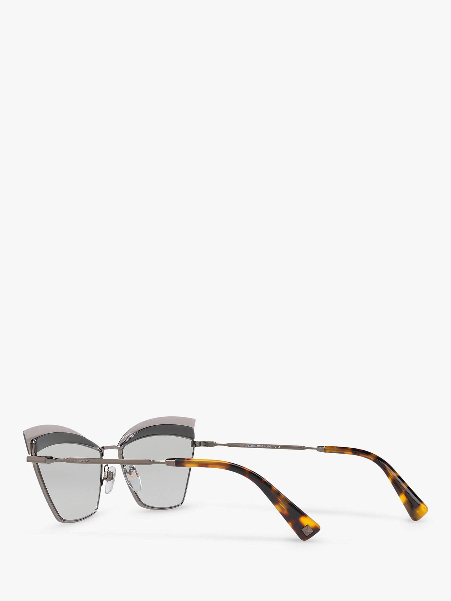 7a08d2fc2f Valentino VA2029 Cat's Eye Sunglasses, Gunmetal/Silver