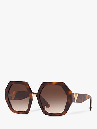 Valentino VA4053 Women's Hexagonal Statement Sunglasses