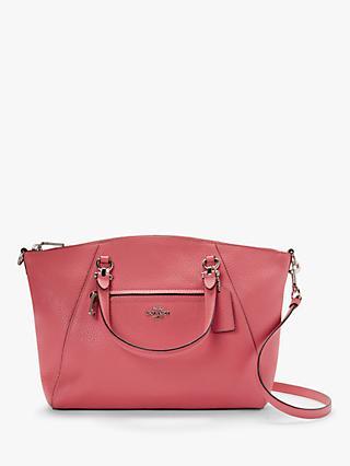 83bfb3e3e6a16 Coach Prairie Pebble Leather Satchel Bag