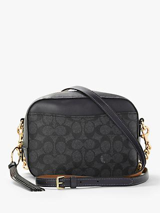 Coach Signature Canvas Camera Bag