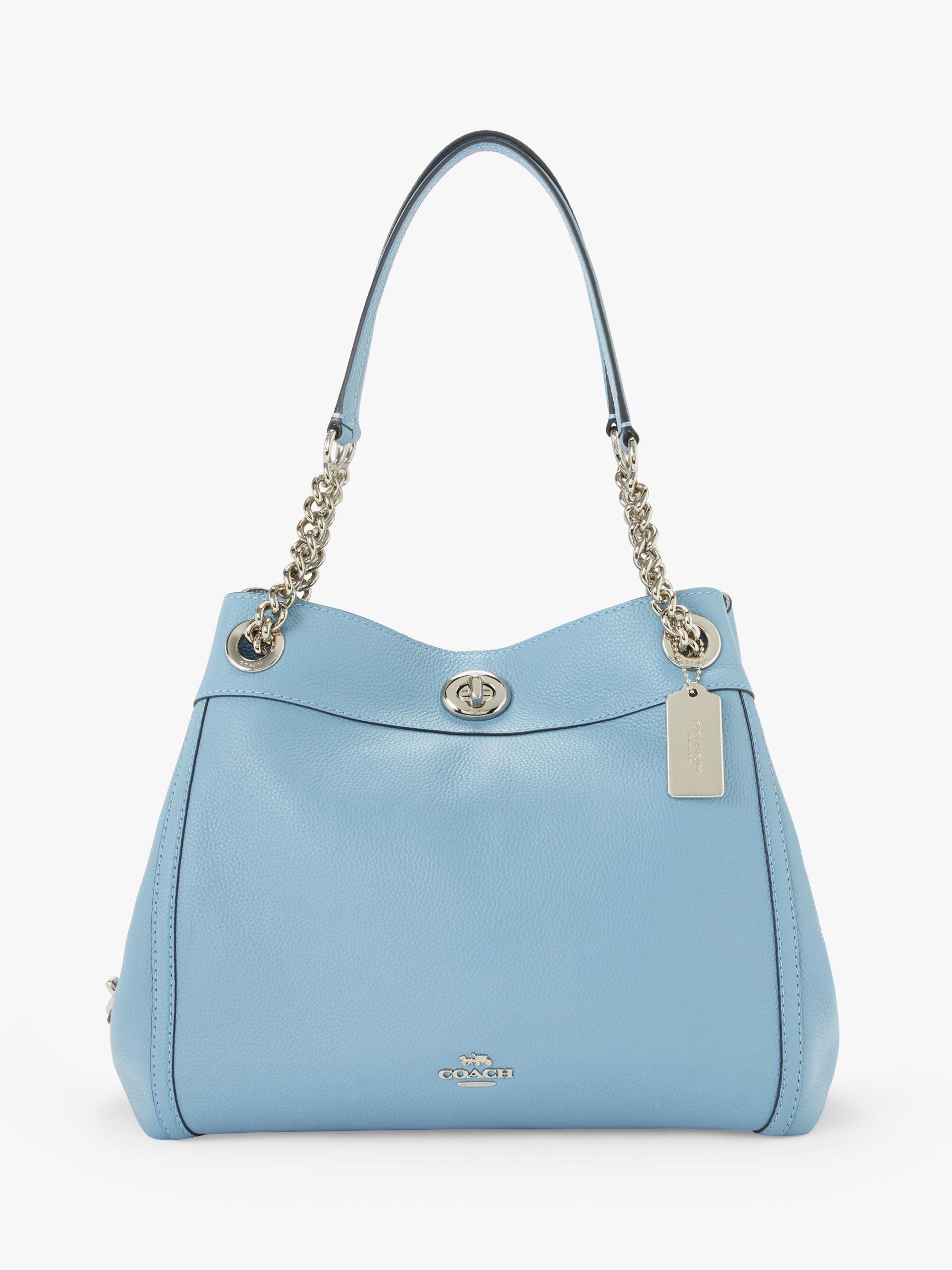 ae5ece2e0469 Coach Turnlock Edie Leather Shoulder Bag at John Lewis   Partners
