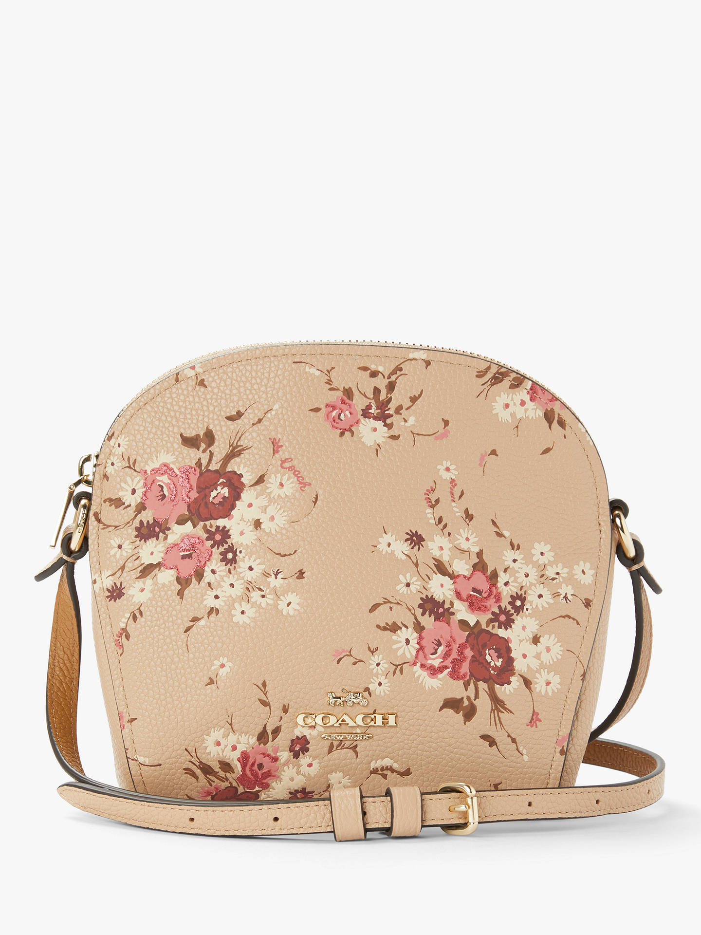 Official Website quality products laest technology Coach Farrow Leather Cross Body Bag, Beechwood Floral