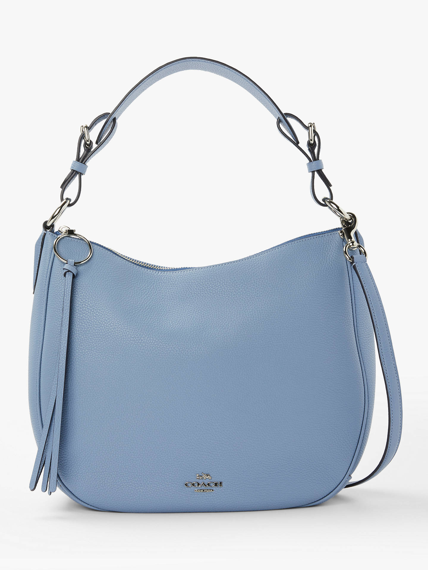 coach sutton pebbled leather hobo bag at john lewis partners rh johnlewis com
