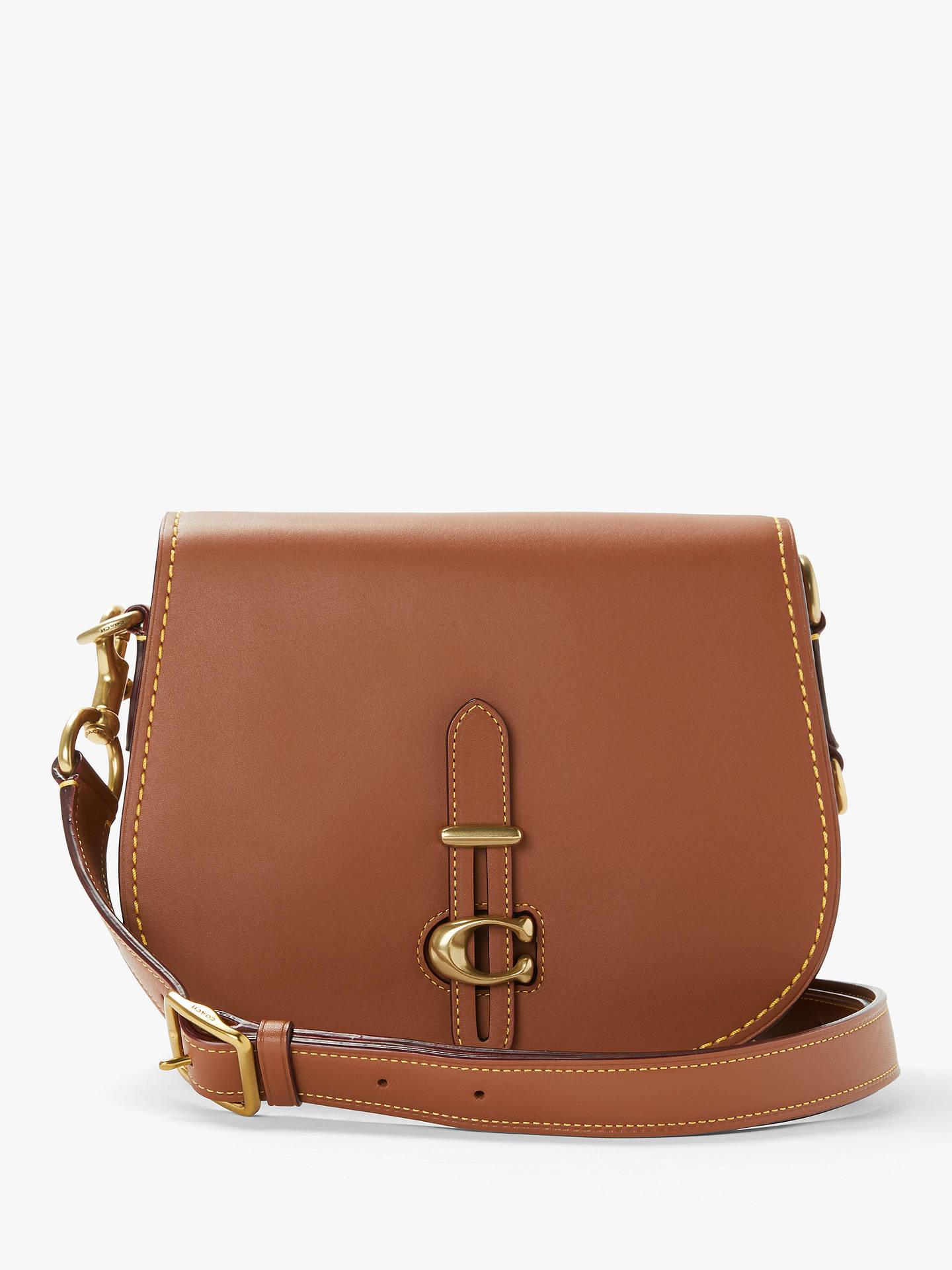 01d06851198c Buy Coach Leather Saddle Bag