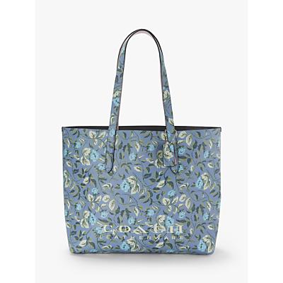 Coach Highline Leather Tote Bag, Slate Floral