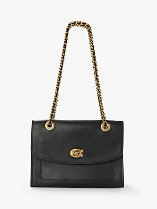 Coach Parker Leather Shoulder Bag
