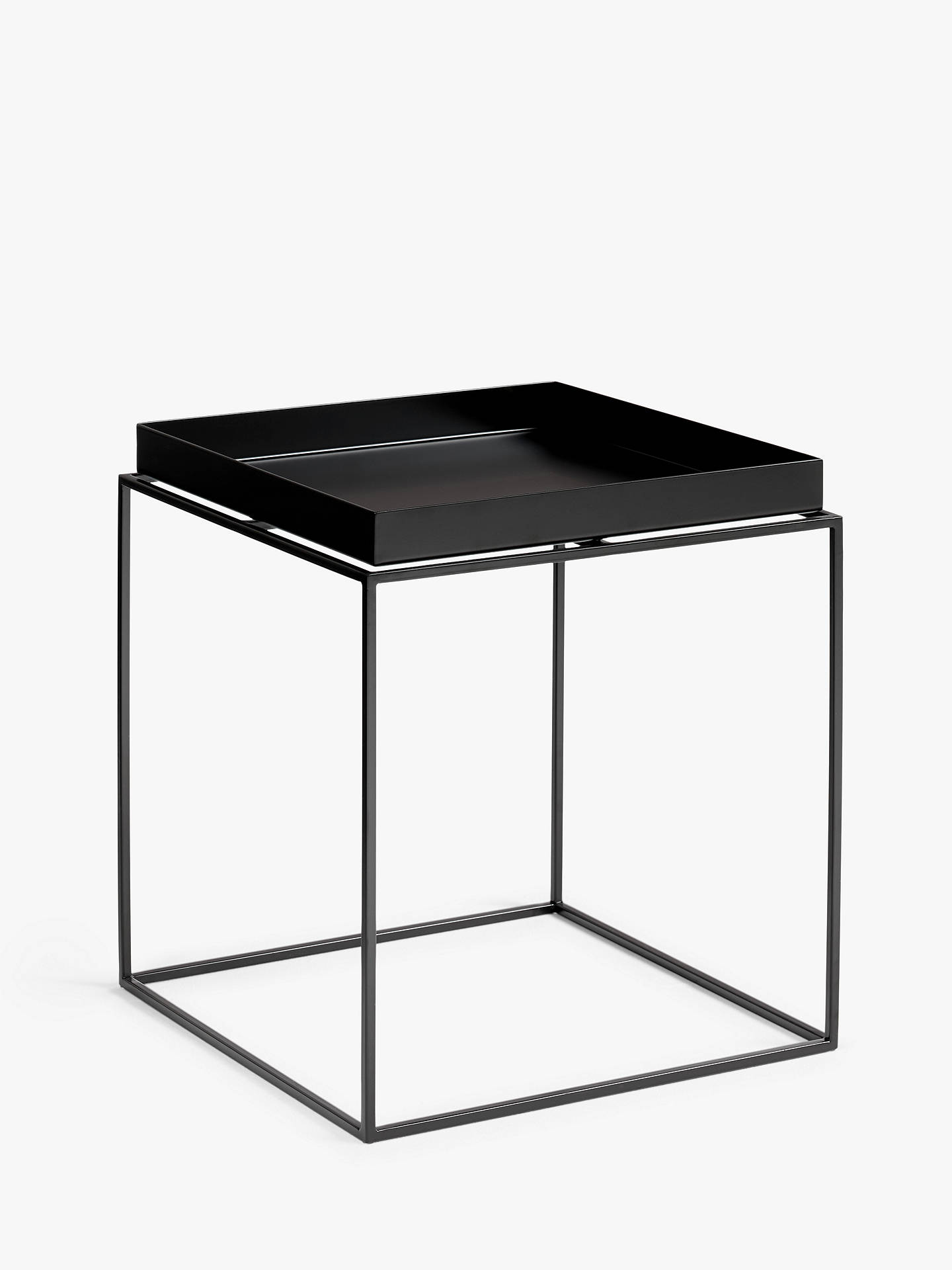 Buy HAY Tray M Side Table, Black Online at johnlewis.com