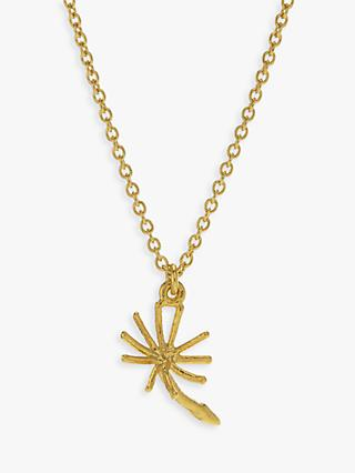 Alex Monroe Dandelion Pendant Necklace, Gold