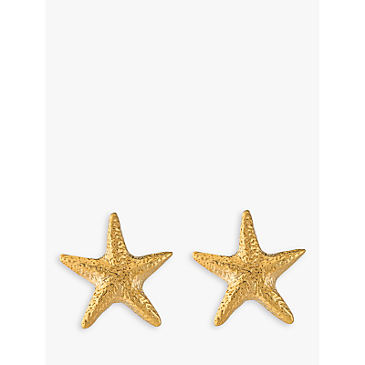 Alex Monroe Starfish Stud Earrings, Gold