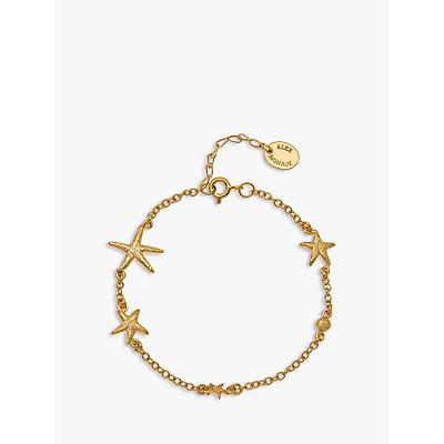 Alex Monroe Starfish Chain Bracelet, Gold