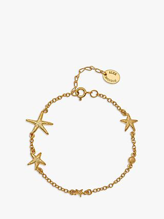 Alex Monroe Starfish Chain Bracelet, Gold