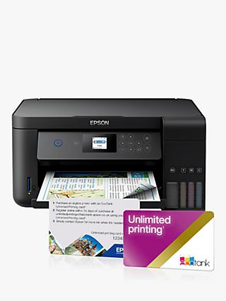 Epson EcoTank ET-2750 Three-In-One Wi-Fi Printer with High Capacity Integrated Ink Tank System & Unlimited Printing for 2 Years, Black