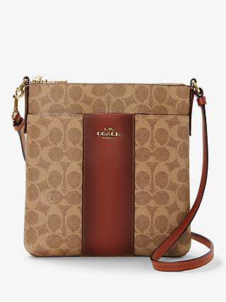 Coach Messenger Signature Messenger Cross Body Bag, Tan Rust 87854bdb77