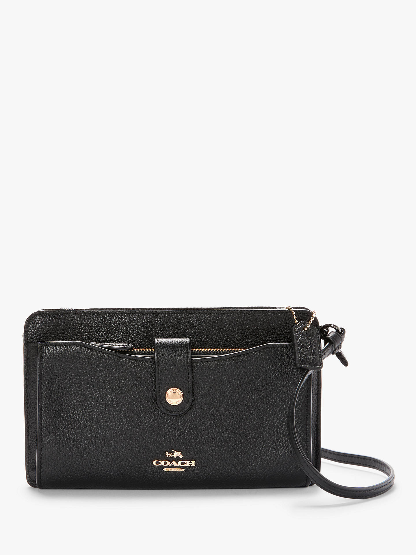 eaf6daf47 Buy Coach Leather Pop Up Messenger Cross Body Bag, Black Online at  johnlewis.com ...