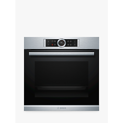 Image of Bosch HRG635BS1B Built-In Single Electric Oven with Added Steam, A+ Energy Rating, Black