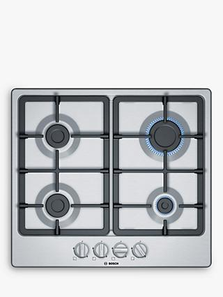 Bosch PGP6B5B90 60cm Gas Hob, Stainless Steel