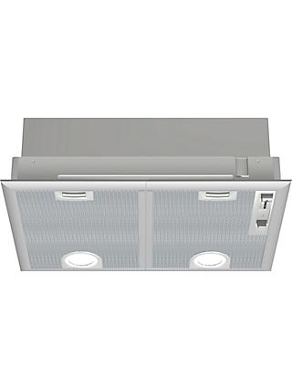 Bosch DHL555BLGB Integrated Cooker Hood, Silver Metallic