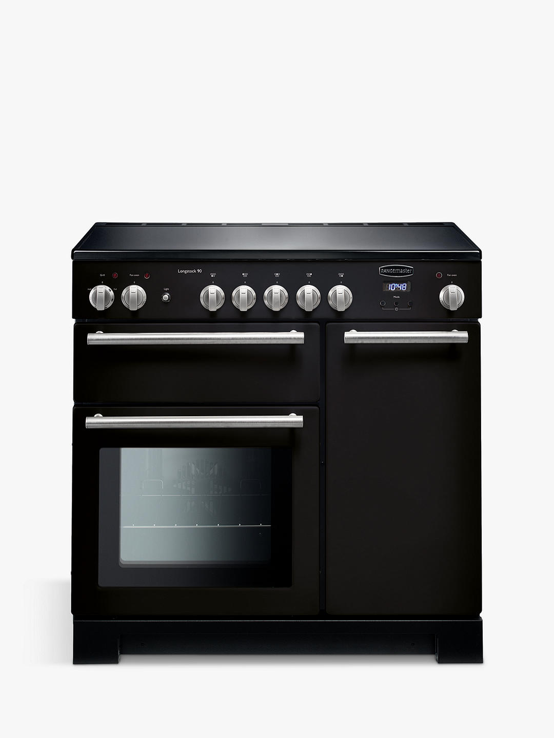 Buy Rangemaster Longstock 90 Induction Hob Oven Range Cooker, Black Online at johnlewis.com