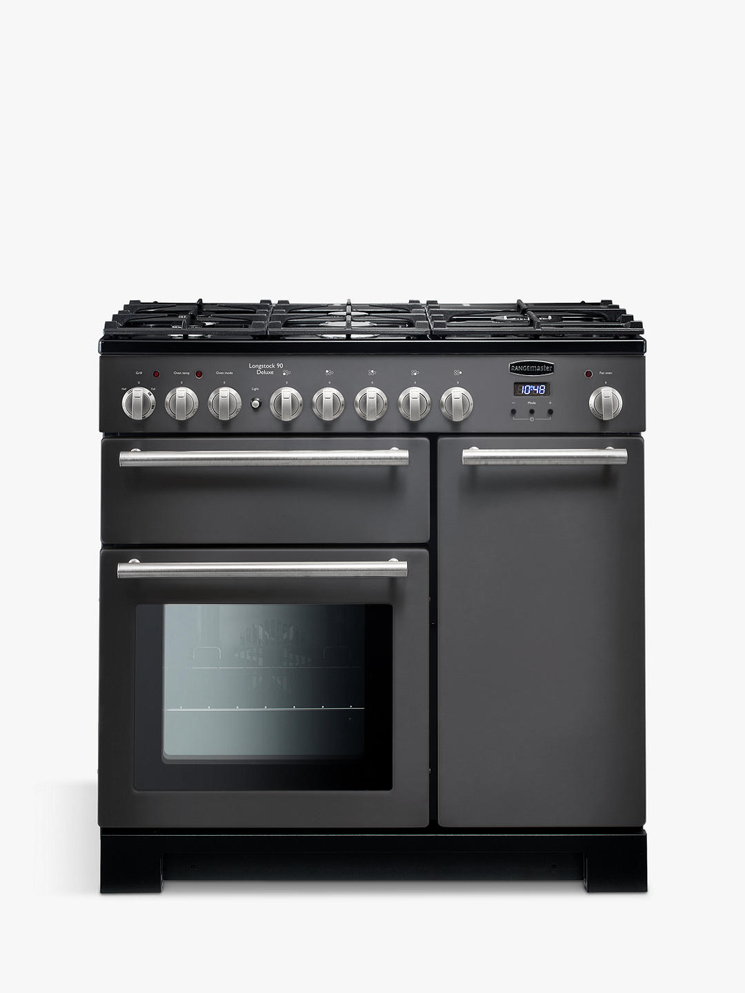 Buy Rangemaster Longstock Deluxe 90cm Dual Fuel Range Cooker, Slate Online at johnlewis.com