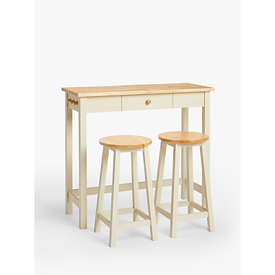 John Lewis & Partners Adler Bar Table & Stools, Cream
